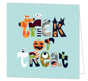 Little Monsters Trick or Treat Halloween Card
