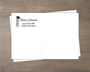 Nurse Grad Black and White Envelope