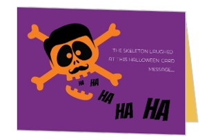 Funny Skeleton Halloween Greeting Card