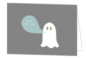 Ghost Bootiful  set  Halloween Card