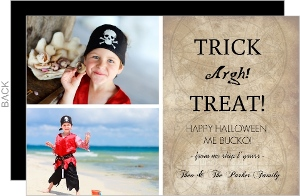 Trick Argh Treat  set  Halloween Card