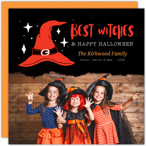 Best Witches Halloween Photo Card