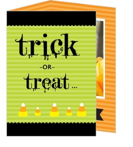 Orange and Green Candy Halloween Halloween Card