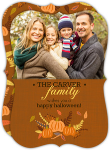 Harvest Family Photo Halloween Card