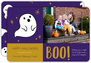 Ghastly Ghosts Halloween Photo Card