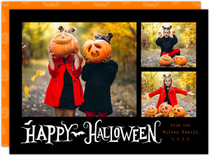 Happy Halloween Three Photo Halloween Card