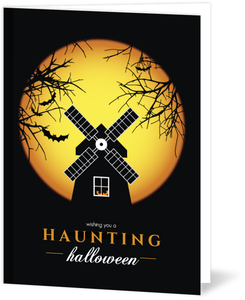 Spooky Windmill Halloween Card