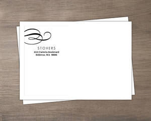 Rustic Yellow And Black Elegant Swirl  Custom Envelope