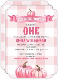 First birthday invitations 1st birthday invites pink watercolor pumpkins kids birthday invitation filmwisefo