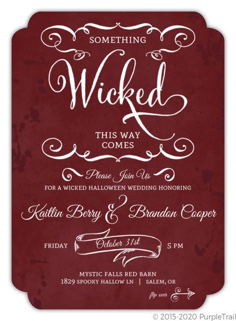 Halloween wedding invitations filmwisefo