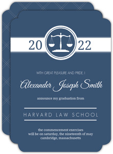 Blue Law Scales Law School Graduation