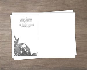 Modern Dark Foliage Envelope