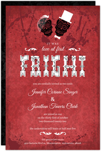 Love at First Fright Halloween Wedding Invitation