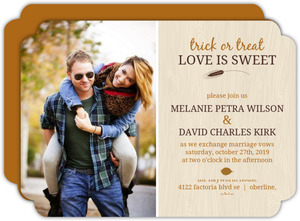 Love is Sweet Autumn Halloween Wedding Invitation