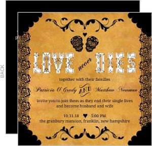 Halloween Wedding Invitations