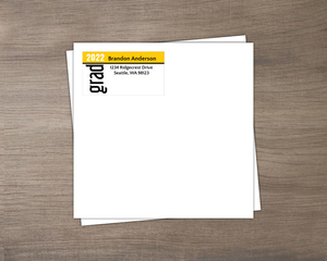Gold Graduation Return Address Envelope