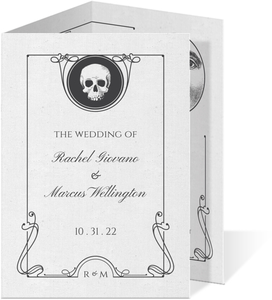 Ouija Board Trifold Wedding Invitation