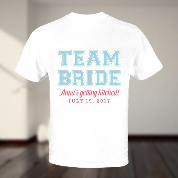 Team Bride Maid of Honor Custom Tshirt
