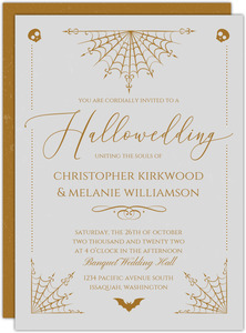 Elegant Night Web Halloween Wedding Invitation