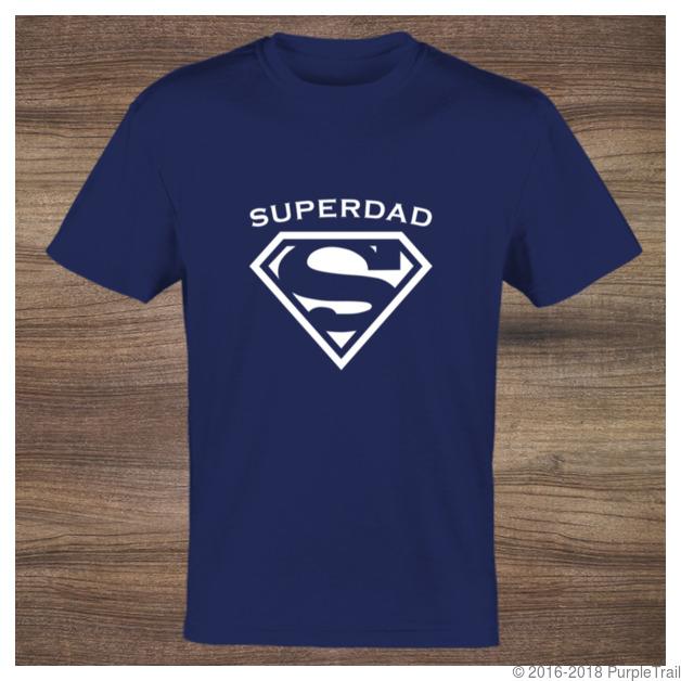 Brand new White Symbol Super Dad Custom Tshirt | Custom T-Shirts II85