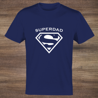 White Symbol Super Dad Custom Tshirt