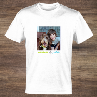 Blue & Green Custom Photo Tshirt