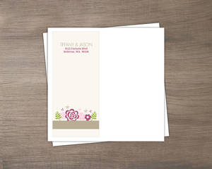 Pink Flowers Envelope
