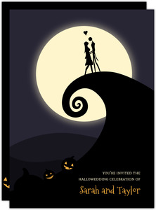 Halloween Moonlight Wedding Invitation