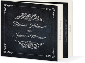 Gothic Elegant Booklet Halloween Wedding Invitation