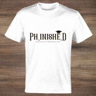 Phinished College Graduation Custom T-shirt