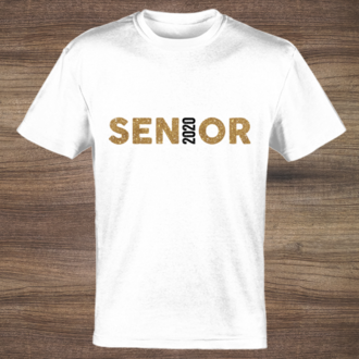 Faux Gold Glitter Senior Custom Tshirt