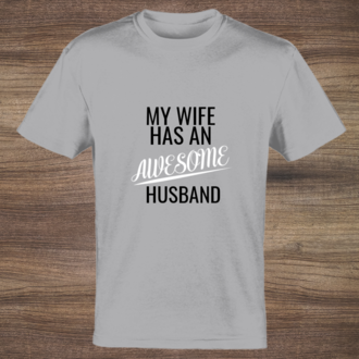 Wife Awesome Husband T-shirt