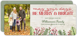 Country Floral Christmas Card