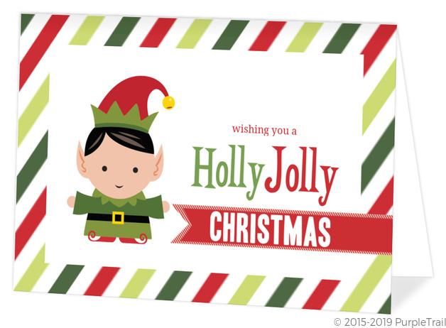 holly jolly elf christmas card - Elf Christmas Card