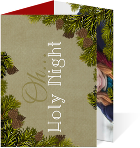 Pine Multifold Christmas Card