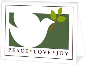 White Dove Business Christmas Card
