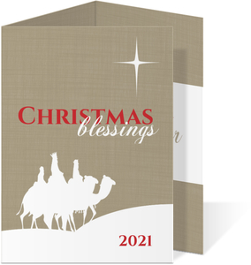 Three Wisemen Trifold Christmas Card