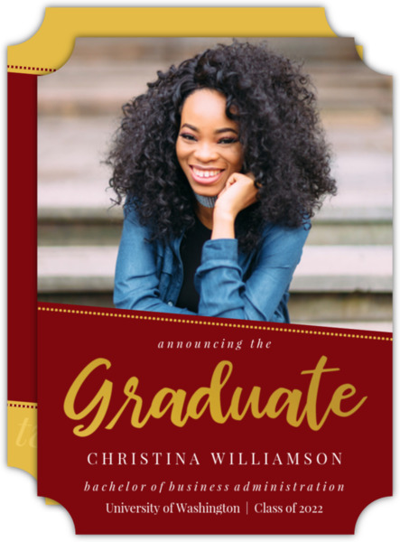 Simple Dotted Angle Graduation Invitation