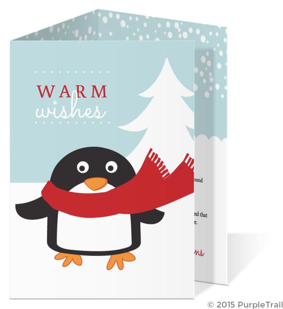 Winter Wonderland Penguin Christmas Card Christmas Cards