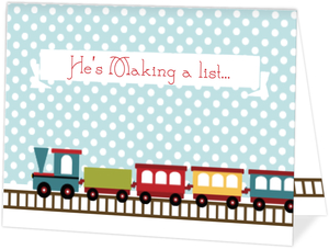 Toy Train Christmas Card