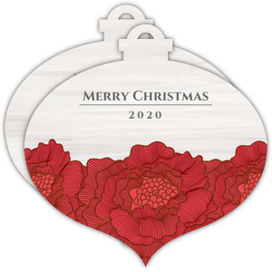 Red Christmas Flowers  Christmas Card