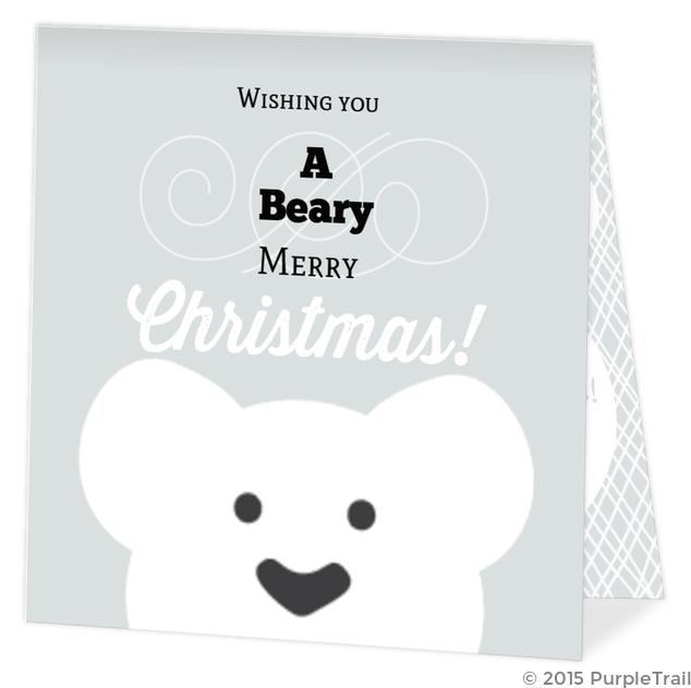 polar bear merry christmas photo card christmas cards