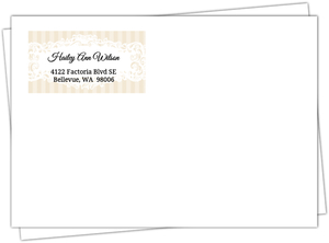 Cream And Black Vintage Frame Return Address Envelope