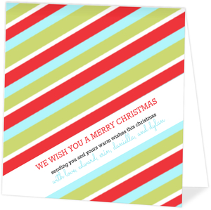 Holiday Wrapping Paper Christmas Card