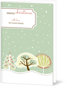 Beautiful Snow Christmas Card
