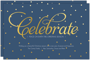 Celebrate Peace On Earth Christmas Card
