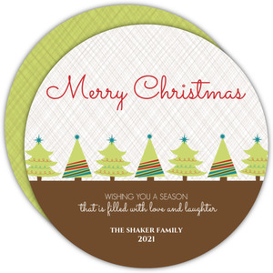 Little Christmas Trees Christmas Card