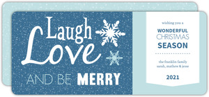 Blue and White Whimsical Christmas Card