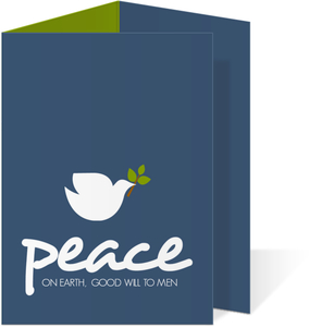 Navy Peaceful Dove Christmas Card