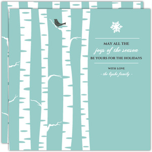 Birch Tree Rustic Christmas Card